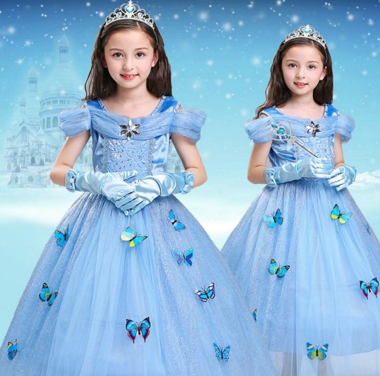 幼儿园纱裙装扮爱沙公主裙女公主冰雪奇辕秋冬季洋气仙女女孩子