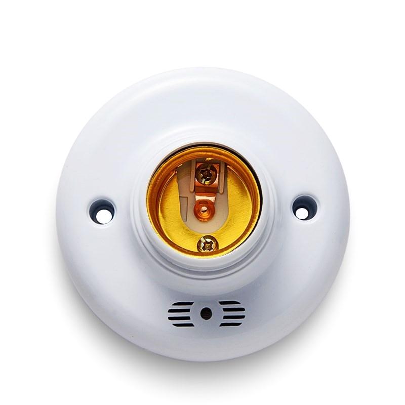 优质智能灯座楼道延时灯感应开关家用楼梯螺口延迟声光控灯头声控