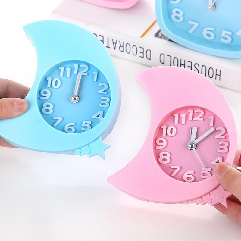 创意学生粉色铃 可爱软妹卧室摆件 床头爱心形状少女心起床小闹钟