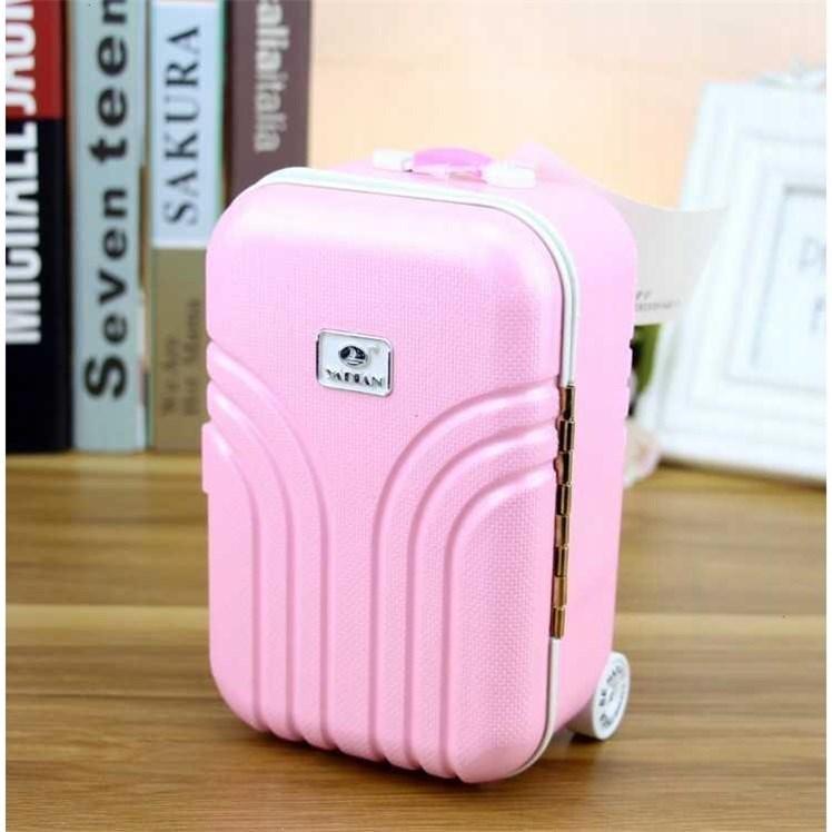 韩国创意旅行箱儿童防摔储蓄罐存钱罐卡通女孩密码箱行李箱存钱罐