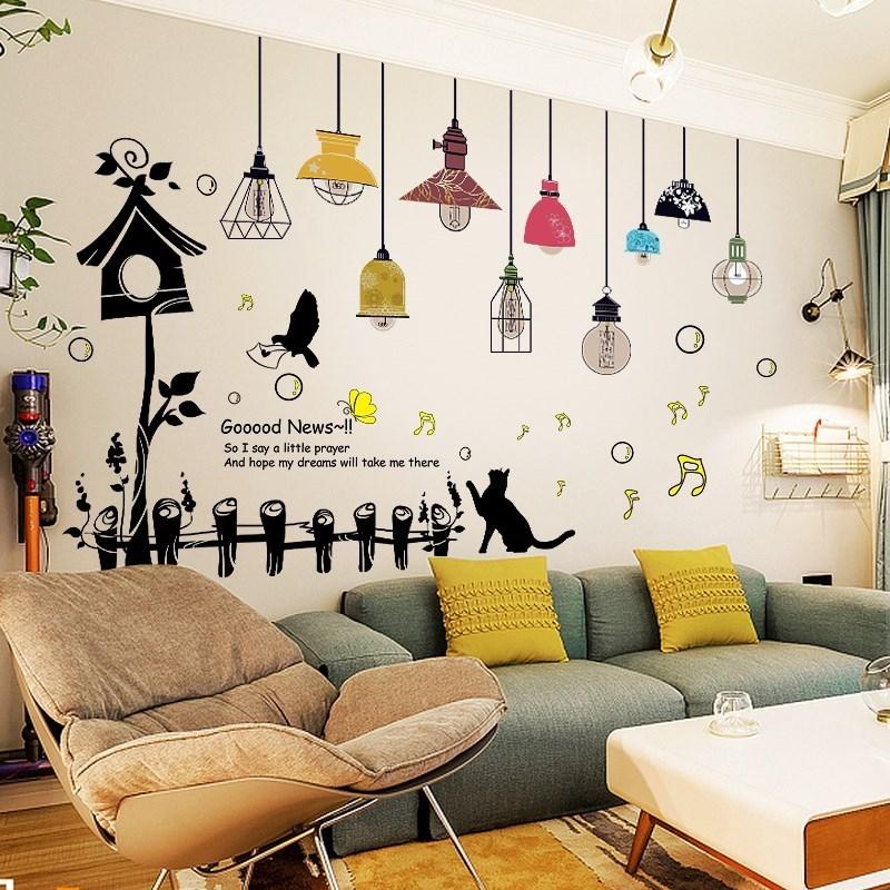 立体墙贴画创意房间卧室床头温馨墙纸自粘墙面装饰墙上贴纸女孩 3d