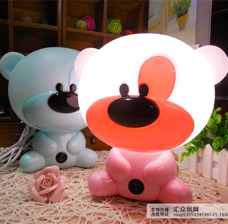 萌萌熊插电床头灯喂奶灯 儿童卡通卧室小夜灯 时尚卡通嘟教授台灯