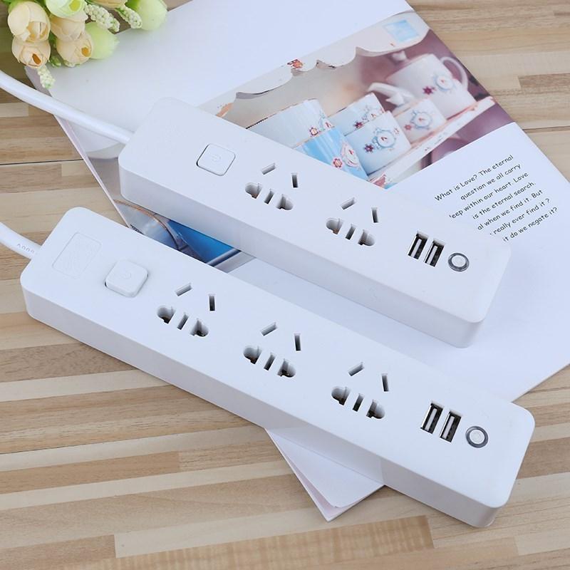 廚房插排接線板插座多開關家庭 usb 口簡易白色 usb 連接辦公 帶開關