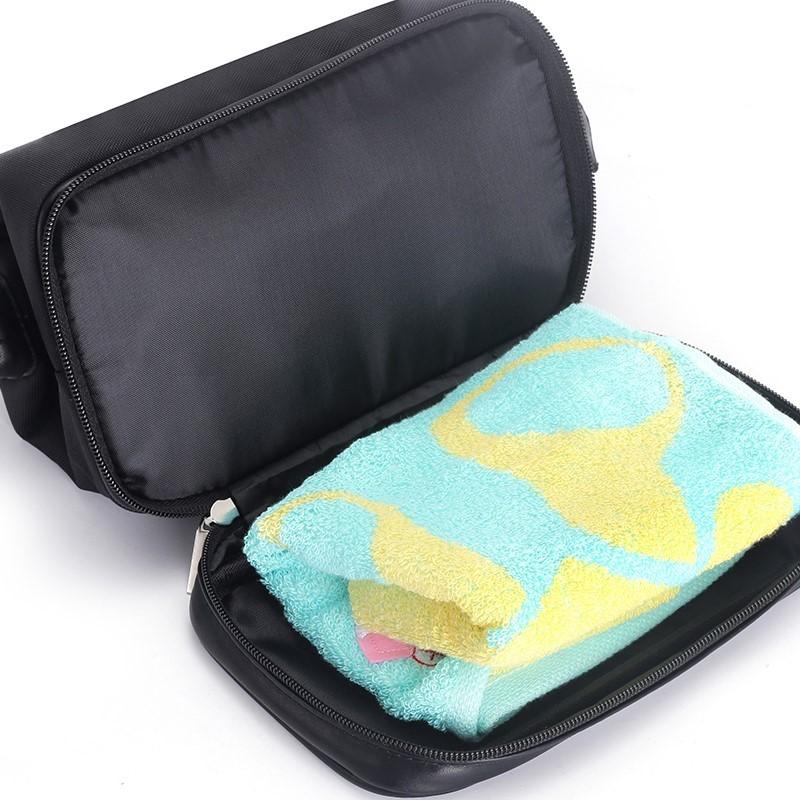 旅行装洗涮包浴室包多用途黑色洗涑包男洗澡方便超大容量沐浴包