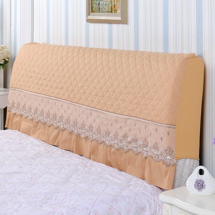 纯色床头套 皮床全包软包弹力套防尘罩 软包床头罩 弧形靠背