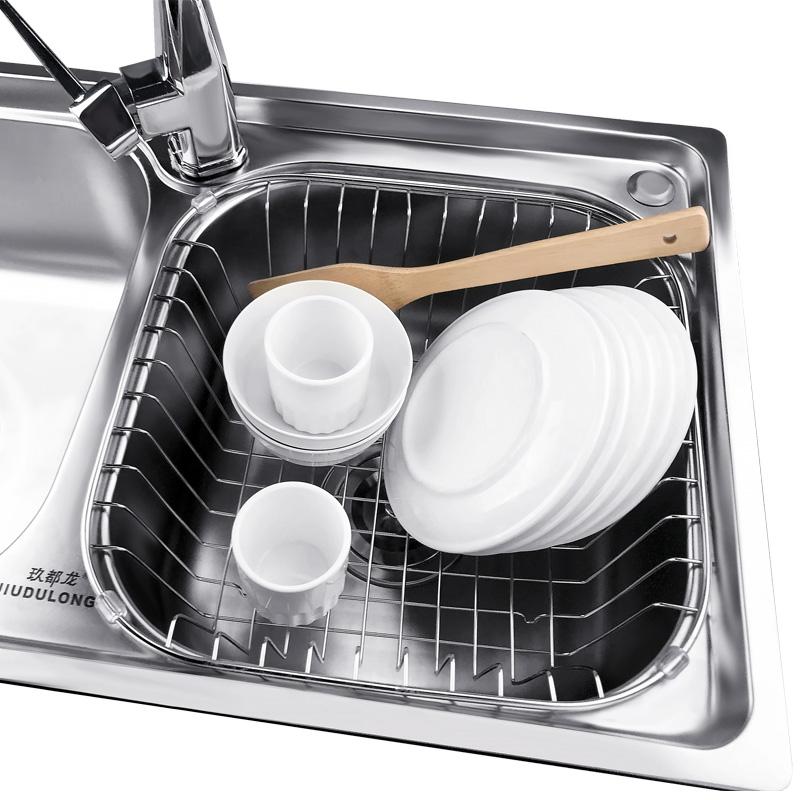 厨房用品水槽沥水篮水龙头海绵置物架收纳架子水池沥水架不锈钢