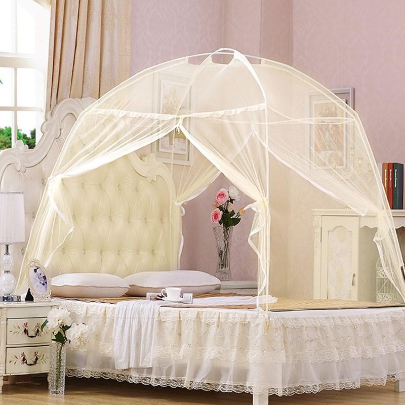 一米五带帐篷 床上 5 米 1.2m1 米支架家用 1.5 床双人 1.8m 蒙古包蚊帐