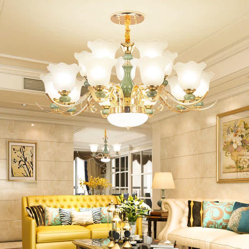 吸顶灯具现代简约大厅水晶灯大气欧式餐厅卧室 led 吊灯客厅灯