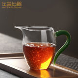 Left 茗 Right ware Creative glass eagle mouth fair cup with a single cup tea dispenser Kung Fu tea set transparent uniform cup