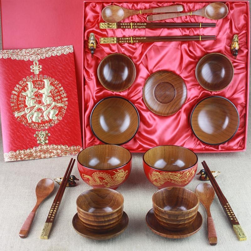 送闺蜜结婚礼物创意高档实用 新人婚庆礼品新婚摆件定制碗筷套装