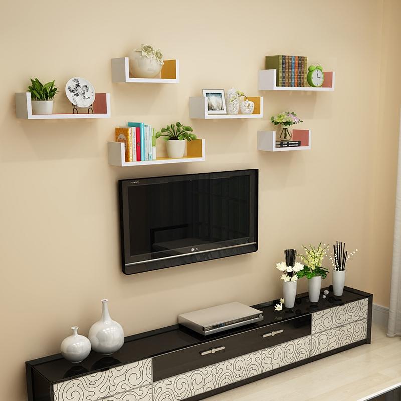 墙上置物架客厅墙壁挂墙面隔板搁卧室多层书架免打孔简约现代装饰