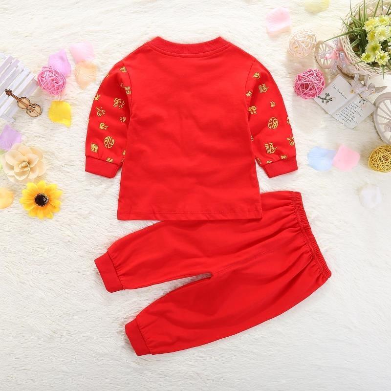 新生婴儿衣服大红色男女宝宝满月服纯棉0-3个月6百天套装春夏秋季