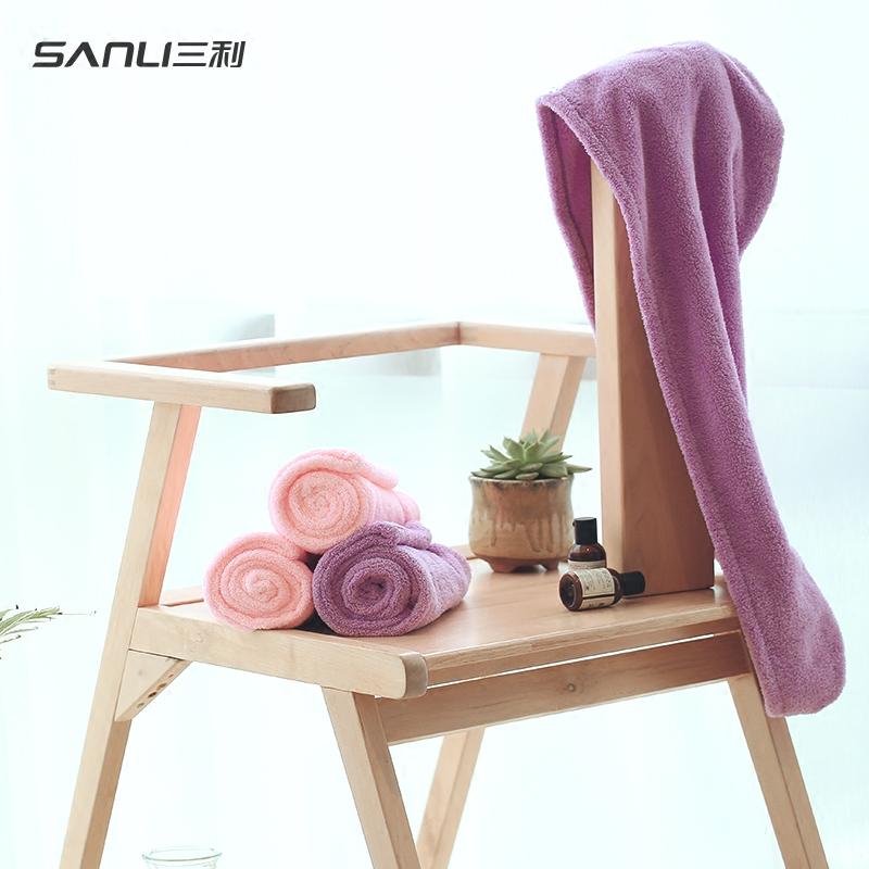 2条三利干发帽女吸水包头巾长超强浴帽速干毛巾可爱擦头发干发巾