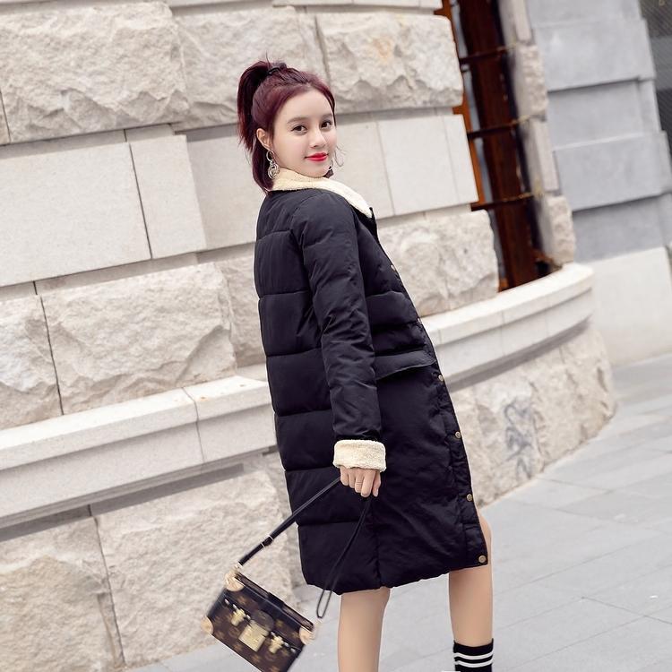 棉衣羽绒棉服女中长款2017新款百搭韩版宽松棉袄冬季外套长过膝潮