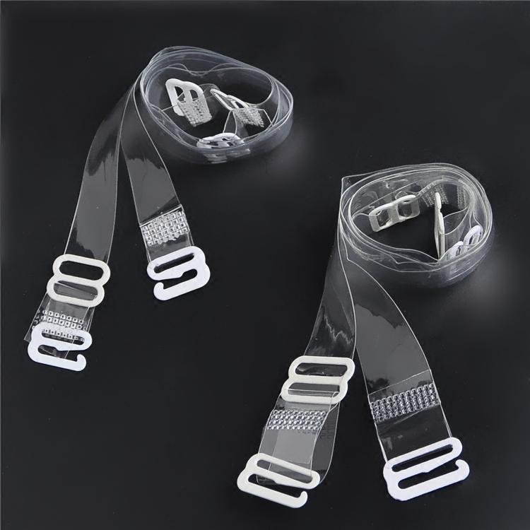 女士内衣透明肩带加宽防滑文胸可拆卸式隐形带子硅胶文胸带弹力带