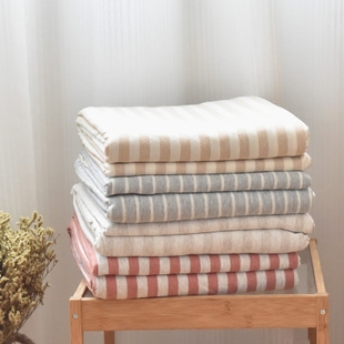 单件 条纹简约单人双人1.5米被罩天竺棉全棉床品 针织棉纯棉被套单件