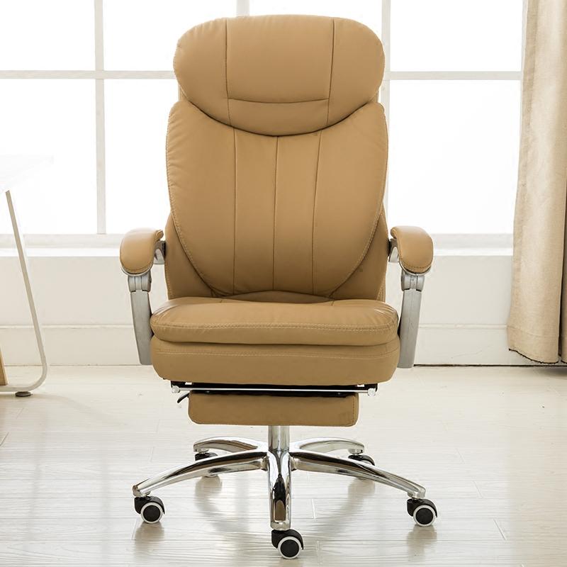 曼译可躺电脑椅家用办公椅真皮老板椅子转椅书房座椅升降椅子