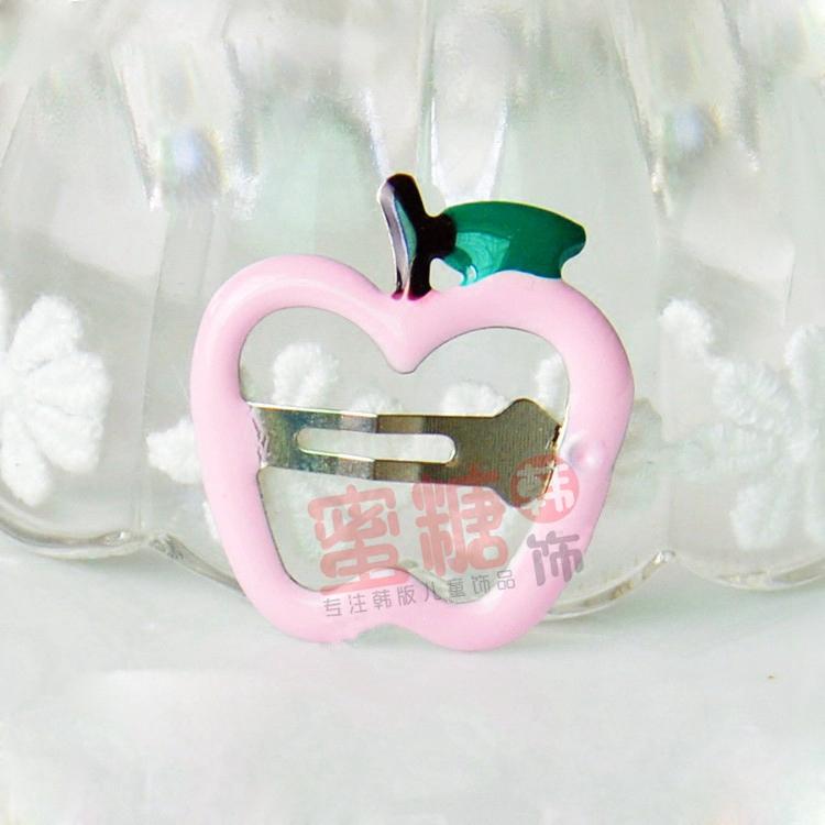 儿童发夹韩国卡通水果bb夹糖果色迷你可爱苹果草莓边夹顶夹刘海夹