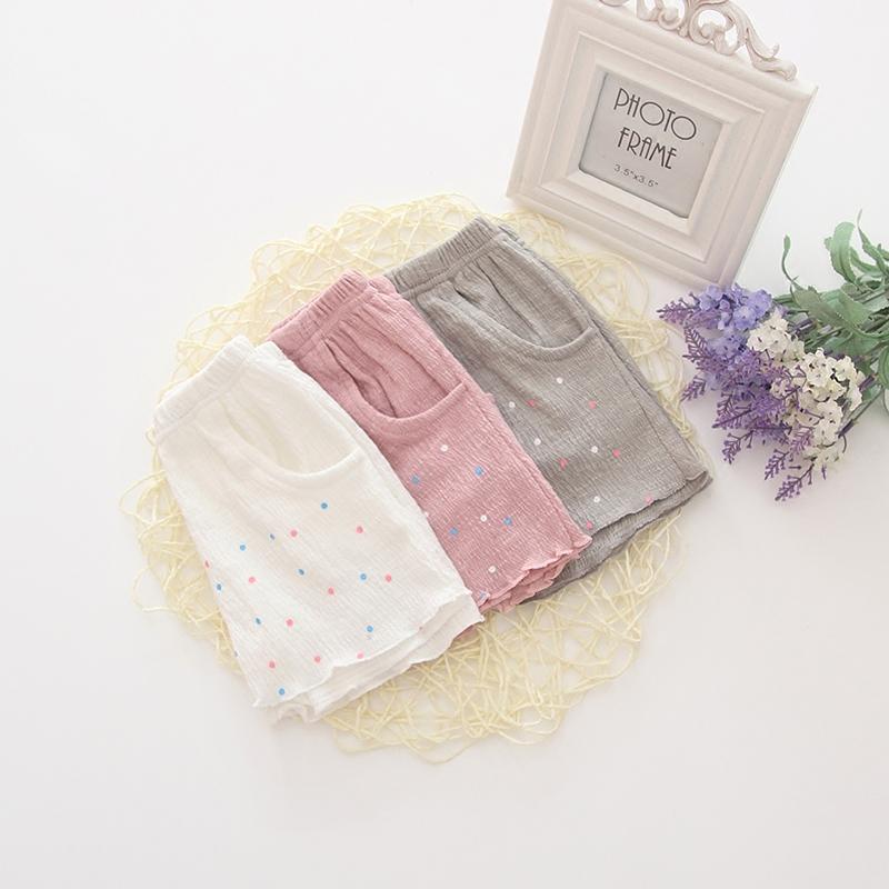 女宝宝短裤夏季外穿女婴儿裤子夏天薄款婴幼儿洋气女宝白色纯棉夏