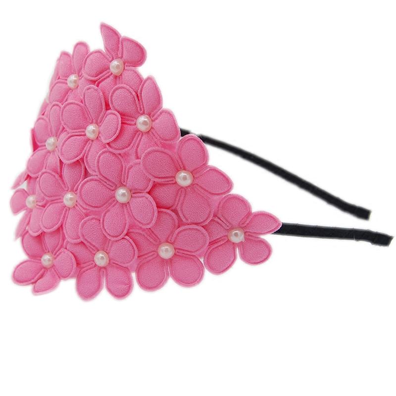 韩国儿童珍珠花朵发箍公主女童发饰超仙宝宝头花可爱舞台表演发箍