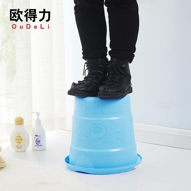 正品包邮宏隆家品加厚韩式手提雕花彩色时尚13L家用拖地车载水桶