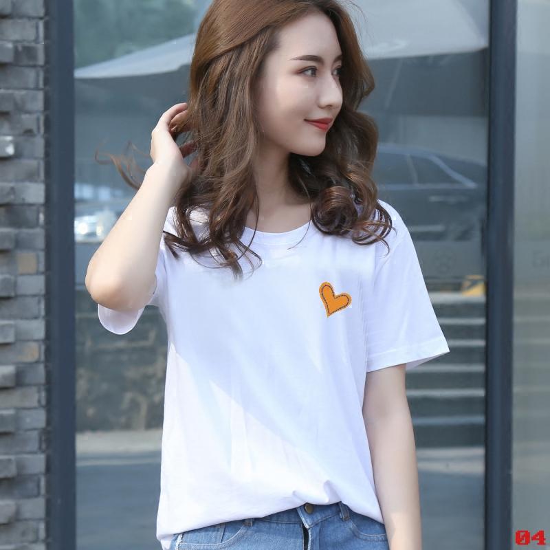 2018夏装短袖女t恤韩版上衣服白色体恤学生体桖衫百搭宽松女装潮