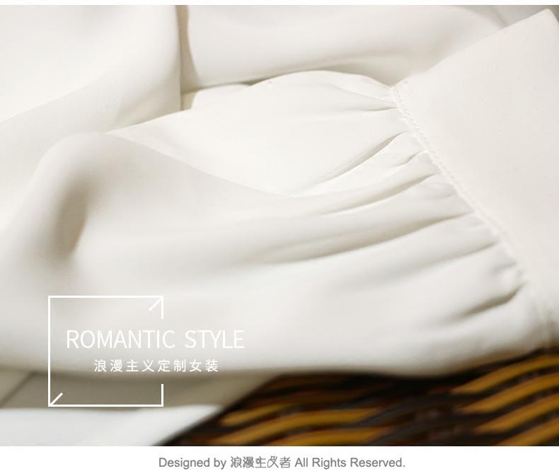 郑秀妍明星同款白衬衫西装领睡衣风韩版慵懒长袖上衣2018早春女装