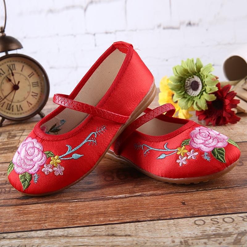 18年防滑手工布鞋老虎鞋儿童老北京布鞋女虎头鞋绣花鞋牛筋底女鞋
