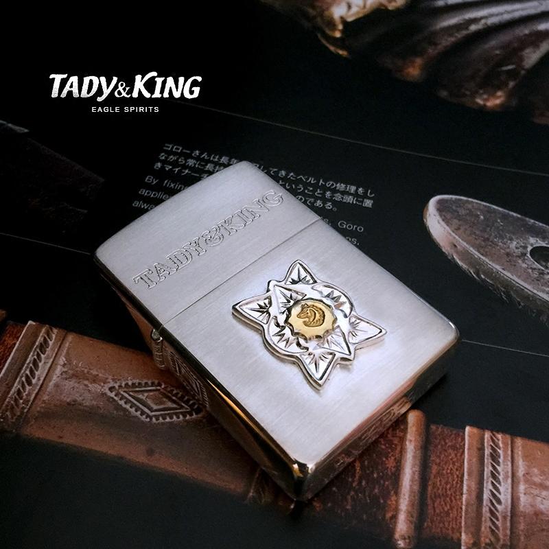 正版zippo煤油打火机镀银皮革包裹版羽毛十字架TANDY KING合作版