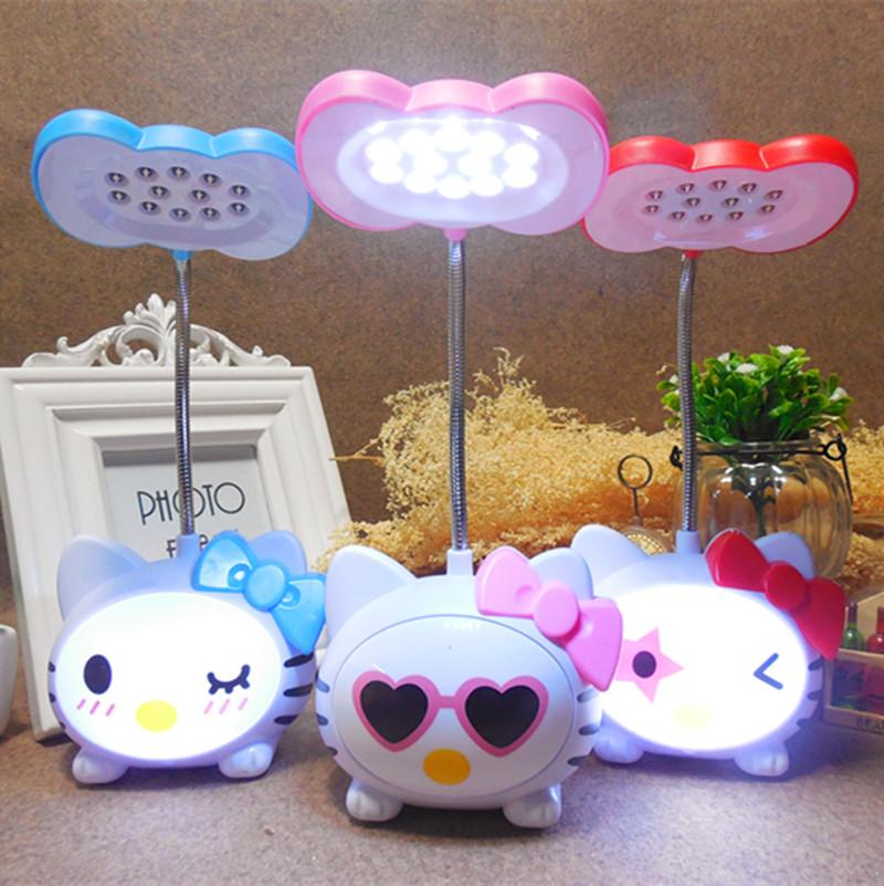 护眼迷你女孩卡通可爱儿童 led 充电小台灯大学生宿舍书桌折叠
