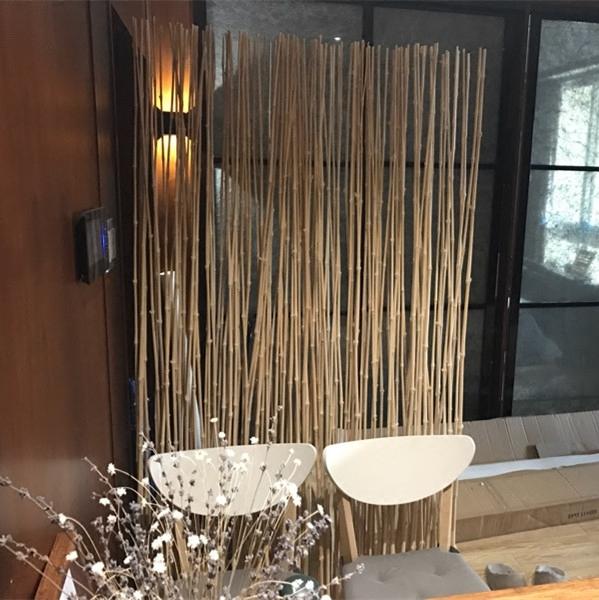家居客厅餐厅卧室现代时尚移动实木座屏风玄关隔断推荐 天然竹子