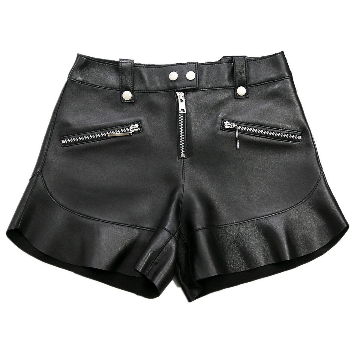 Mestudios高端定制进口绵羊皮靴裤真皮短裤阔腿鱼尾裙裤小羊皮女优惠券