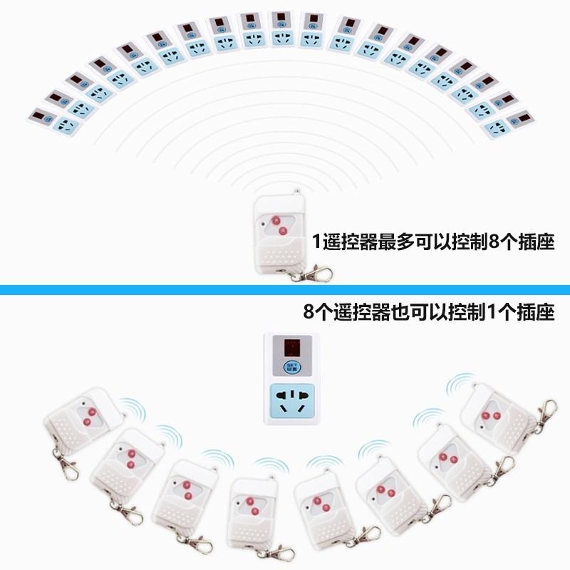 電源插板遙控插座 220v 電視遙控控制多功能燈具自動斷電一路搖控器