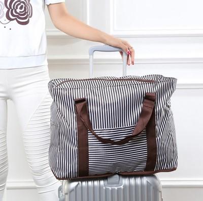 折叠单肩登机包防水旅行袋女大容量短途手提行李袋可套拉杆行李箱