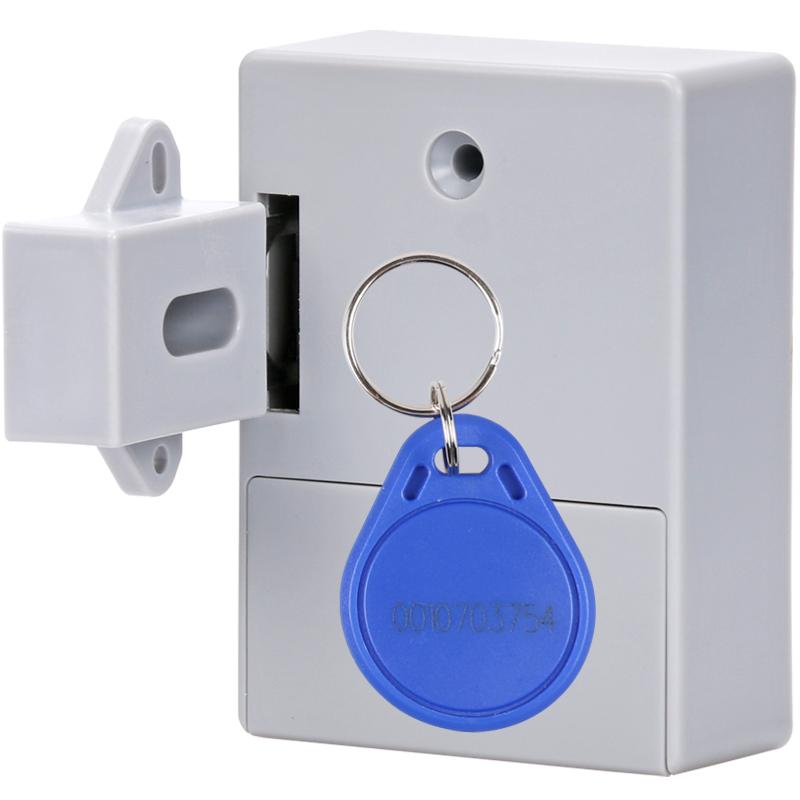 免开孔抽屉锁柜子锁隐形智能感应锁衣柜柜暗装双开柜门锁
