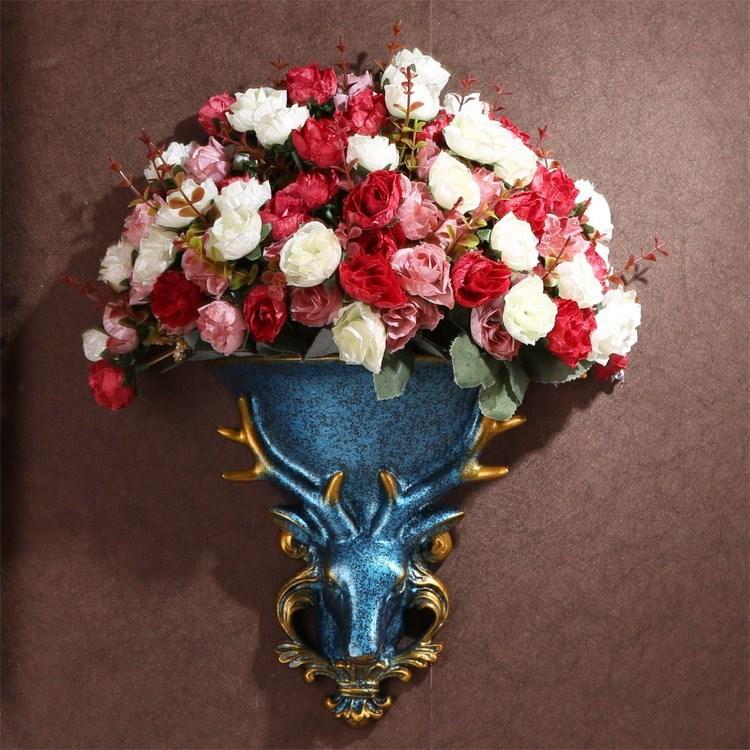 欧式天使壁挂花瓶花盆花篮壁饰墙饰创意客厅墙面上美式装饰品挂件