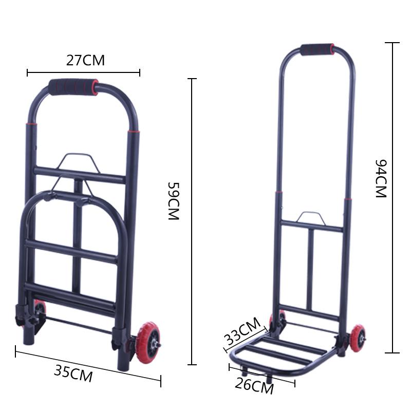 车载购物车折叠小拉车便携式家用拉货车平板橙玄轮拉杆车小拖车