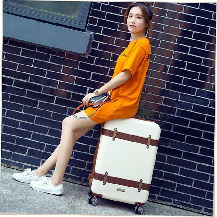 行李箱少女拉杆箱万向轮韩版小清新个姓复古旅行皮箱大学生可爱