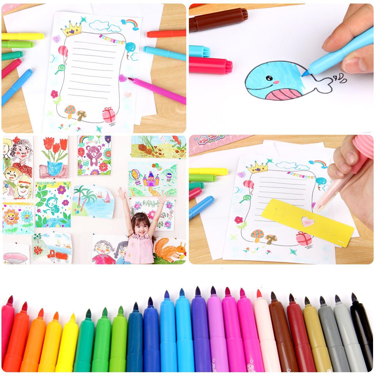 喷喷笔 12色儿童女孩diy娃娃公主小学生水彩笔绘画套装 - 图3