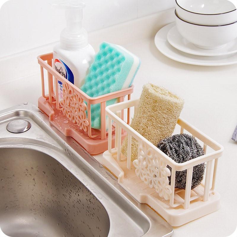 抹布塑料收纳篮 水槽沥水篮水池置物架厨房水龙头海绵沥水收纳架