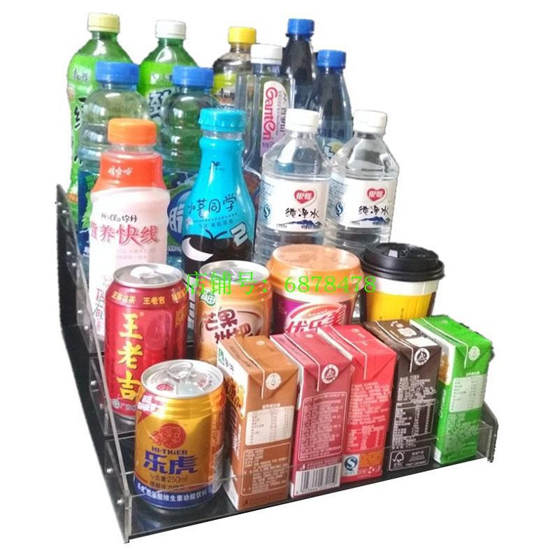 饮料架牛奶展示架收银台小店铺超市透明小货架 矿泉水展架桌上放