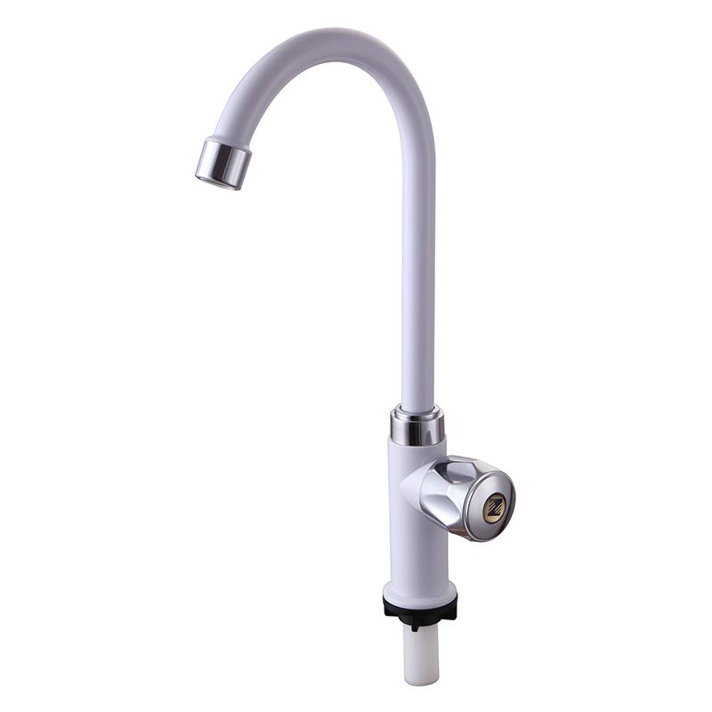 分家用洗菜盆水槽厨房加厚单冷水龙头立式旋转龙头 4 塑料水龙头