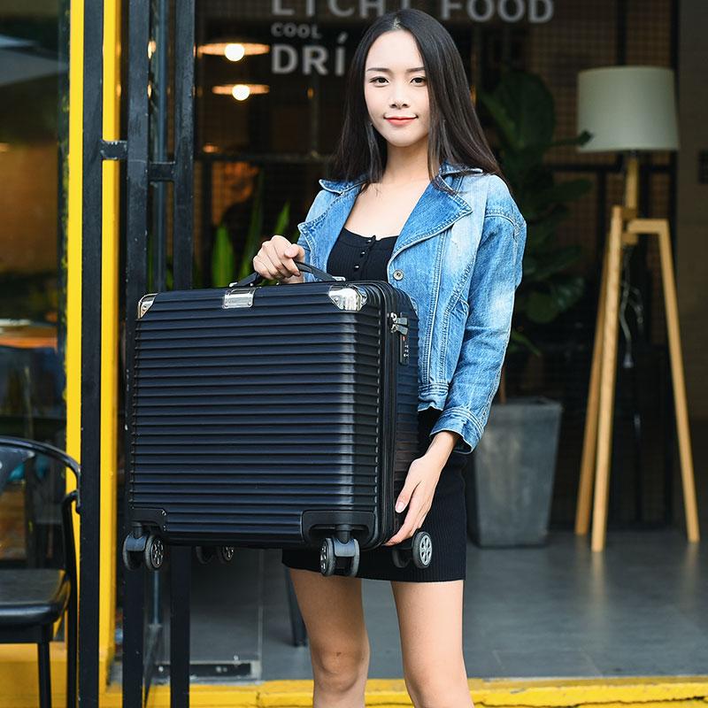 寸密码箱子小型拉杆箱 18 寸可爱迷你登机箱 20 行李箱女 品牌清仓