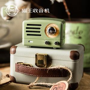 猫王收音机MW-1A Tesslor 猫王小王子OTR MINI复古绿便携蓝牙音箱