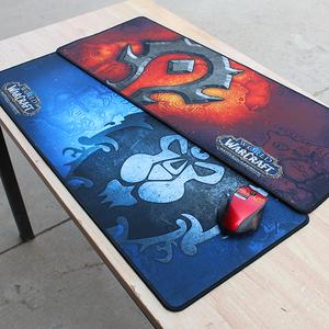 魔兽WOW8.0争霸艾泽拉斯部落联盟标志超大加厚锁边游戏鼠标垫桌垫