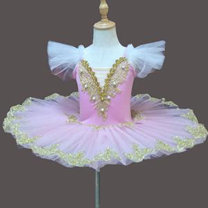 儿童粉色睡美人芭蕾TUTU裙小天鹅舞蹈纱裙公主裙女童芭蕾表演服装