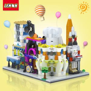 小颗粒拼装积木城市街景系列迷你儿童圣诞礼品建筑益智玩具legao
