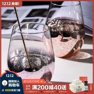 态生活ins网红电镀玻璃水杯星空杯创意家用潮流彩虹杯饮料奶茶杯