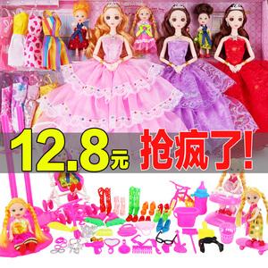 馨蕾芭比特大娃娃套裝大禮盒女孩公主別墅城堡兒童玩具婚紗換裝洋