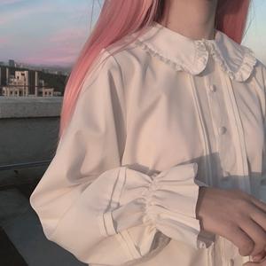 多色【一米六工作室】原创*Lolita内搭jk衬衫软妹长袖灯笼春秋冬